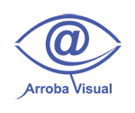 Logo Arroba Visual. Ojo cuyo iris se forma por el caractér arroba.